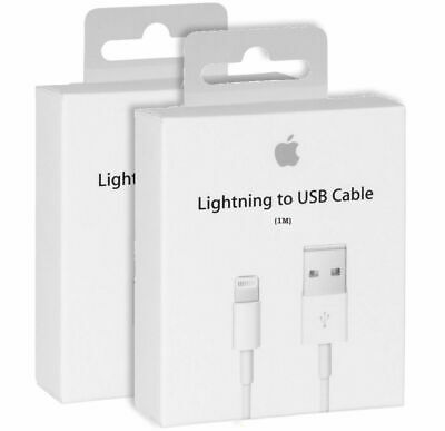 GENUINE Apple For iPhone 5 5S 6 6S 7 XS Lightning USB charger sync Lead Cable GB