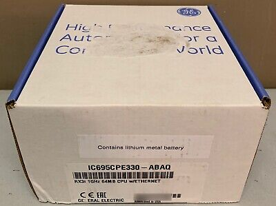 2019 New Sealed GE Fanuc IC695CPE330-ABAQ PACSystems RX3i 1GHz 64MB CPU Ethernet