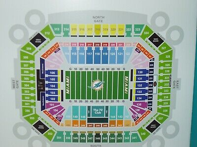 Two, Lower Level, Sec. 117, Miami Dolphins Vs. Baltimore Ravens Tickets