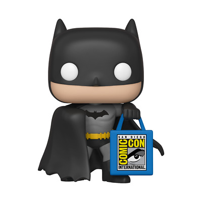 SDCC 2019 FUNKO POP DC HEROES: BATMAN w/ SDCC BAG 50th ANNIVERSARY IN HAND