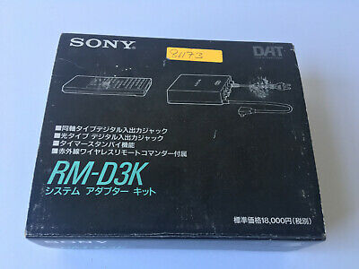 Sony RM-D3K Remote Control for Portable DAT TCD D3 D7 D8 Complete In Box!