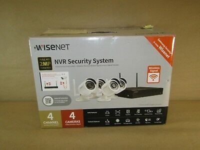 SAMSUNG WISENET NVR Security System 4 Channel 4 Camera