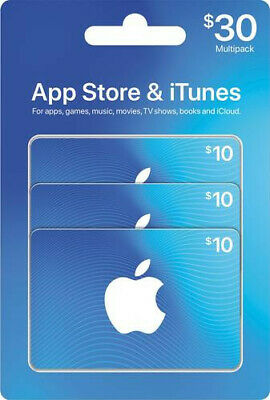 Apple iTunes Appstore Giftcard $30 (Canada) gift certificate. Digital Delivery.