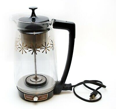 Sunbeam Electric Percolator Glass Pot Coffee Maker APZ 800 12 Cup Vintage 1970s