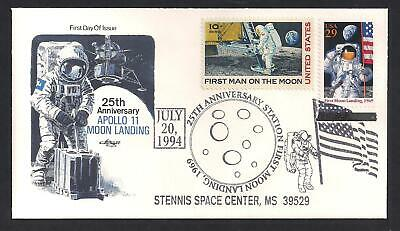APOLLO 11 - MOON LANDING - 25th ANNIVERSARY - ARTMASTER COMBO FIRST DAY COVER
