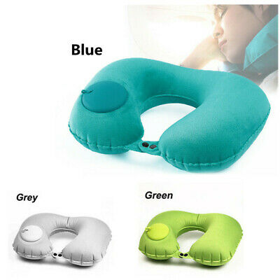 Foldable U Shaped Neck Supports Pillow Inflatable Cushion Travel Air Plane 2019