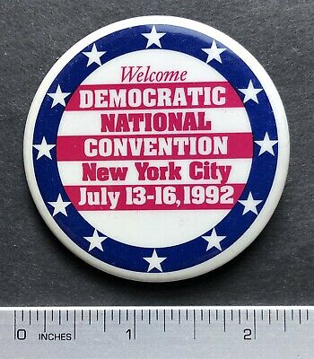 1992 Democrat National Convention New York City Pinback Button 2 1/4""
