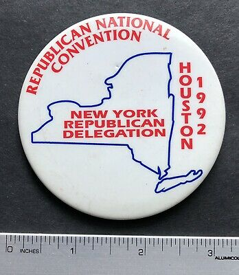 1992 Republican National Convention, New York Delegation in Houston Button 3""