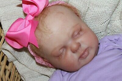 Reborn baby doll sweet newborn baby girl Ella with 3d skin OOAK