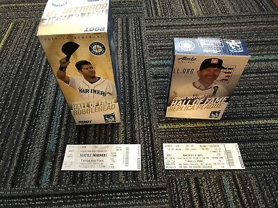EDGAR MARTINEZ HOF BOBBLEHEAD & PLAQUE BUNDLE Seattle Mariners SGA 8/9-8/10/19