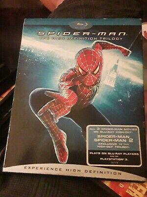 Spider-man The High Definition Trilogy Blu Ray w/ Slipcover Marvel
