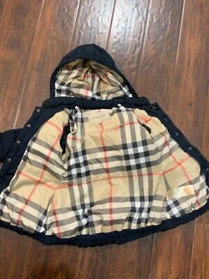 Burberry toddler girls down navy blue coat size 2 years old