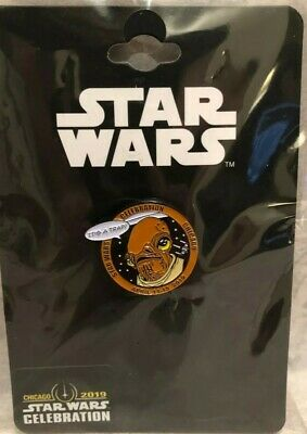 Star Wars Celebration Chicago 2019 SWCC Admiral Ackbar Pin Only 500 Made