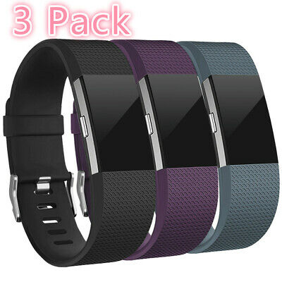 3 Pack Replacement Band Buckle Wristband Fitness Small Large For fitbit charge 2