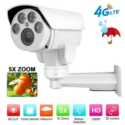 4G 1080P 5X ZOOM Wireless Outdoor CCTV Kamera PTZ Dome Überwachungskamera