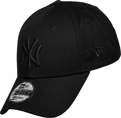 New Era 9FORTY New York Yankees Baseball Cap - League Essential - Black On Blac