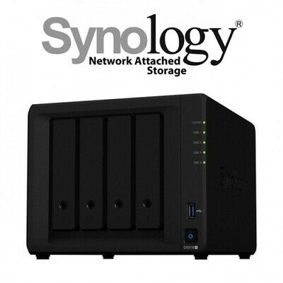 "Synology 3.5"" Diskless DiskStation DS918+ 4 Bay NAS Intel Celeron J3455 3.5in"