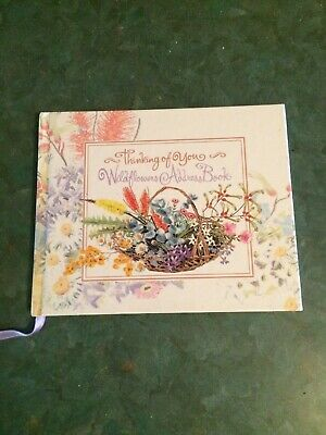 """""""Thinking Of You"""" Wildflowers Address Book"""