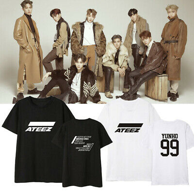 Kpop ATEEZ 에이티즈 ATINY One To All Zero To One All To Zero Fan Goods T-Shirt Tee