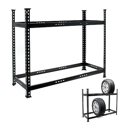 Professional Tyre Rack 120x44x101cm for 6-8 Tyres 150 kg Wheel Storage System