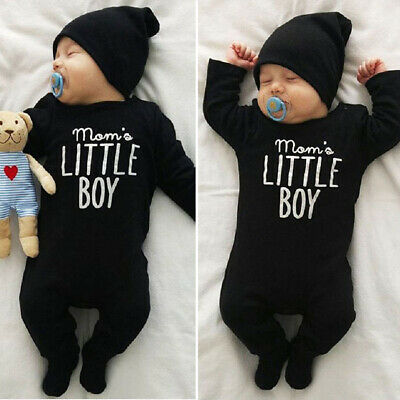 UK Toddler Newborn Baby Boy Girl Cotton Romper Jumpsuit Bodysuit Outfits Clothes