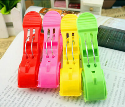 4pcs Plastic Beach Towel Clips Clothes Pegs Hangers Laundry Spring Clamp Pins AU