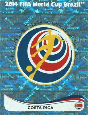 Panini WM 2014 279 Costa Rica World Cup 14 Wappen Logo Glitzer Badge