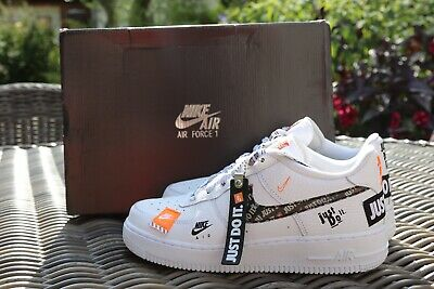 NIKE AIR FORCE 1 Just Do It White BQ5361 100 Right Shoe US8.5 New Amputee shoe