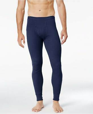 $76 Alfani Men Blue Thermal Base Layer Long Johns Pants Leggings Underwear L