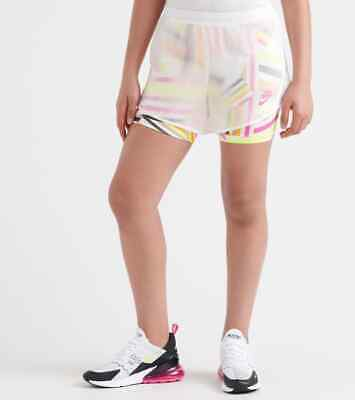 Girls NIKE ALL-OVER PRINT TEMPO ICON SHORT Large 12-13 years . AQ9173-100 *