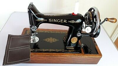 Semi-Industrial Singer 99K Handcrank Sewing Machine, FULLY SERVICED,sews LEATHER