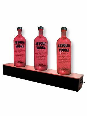 "LED Liquor Bottle Figurine Display Shelf 12""w x 3""h Lighted Glowing Qty 6"
