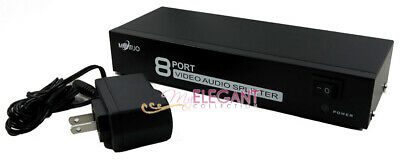 8-Way RCA Video Audio AV 1 to 8 Ports Selector TV DVD Splitter Switch Box