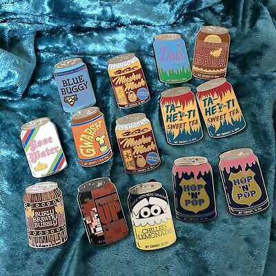 Delicious Drinks Soda Cans Mystery Pin Lot - 14 Disney Pins Brand New Authentic
