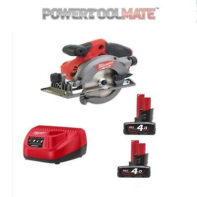 Milwaukee M12CCS44-402C 12v Fuel Compact Circular Saw 2 x 4.0ah Li-Ion