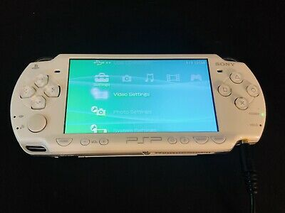 Sony PSP Console Ceramic White - PSP 2003 Model - - No Battery Or Battery Cover