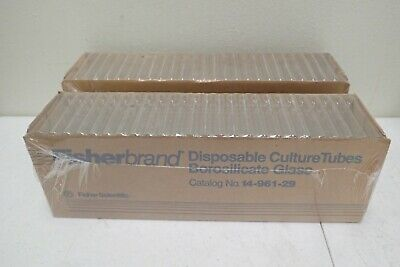 Lot of 2 Fisherbrand 14-961-29 16x100mm Borosilicate Disposable Cultures Tubes