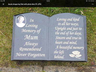 Memorial Stone Headstone Grave Plaque Memorial Stone Gravestone Book Design