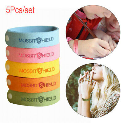 5PC Anti Mosquito Pest Insect Bug Repellent Wrist Band Bracelet Summer Camp
