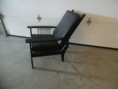 Antique Victorian Mission  Reclining Morris Chair