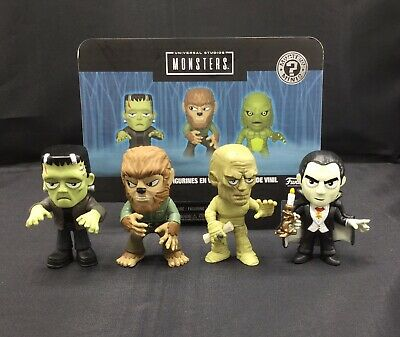 Funko Universal Studios Monsters Mystery Minis Lot Of 4 Dracula, Wolfman, Etc