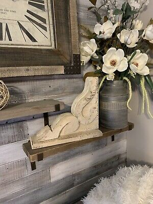 RUSTIC CORBEL/BRACKET Distressed White chunky Wood Corbel FARMHOUSE, fixer upper