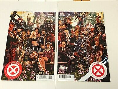 House of X Powers of X #1 Mark Brooks Connecting Variant Set NM Hickman X-Men NM