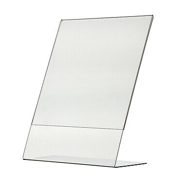 "8.5"" x 11"" Sign Holder Ad Frame Slant Back Counter Display Frame Acrylic Qty 12"