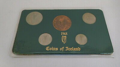 Irish Coins of Ireland Uncirculated Coin Set 1968 Florin Shilling 6d Sixpence