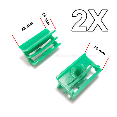 2X Plastic Trim Clips Fastener for Side Skirt Sill Moulding for BMW 51717066223