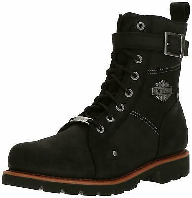 Harley-Davidson Men's Wickson Black Leather Motorcycle Work Boots D93489