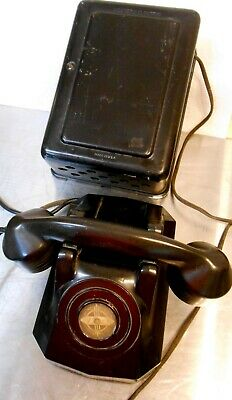 Vintage Western Electric 534A Subset Ringer Box With Antique Telephone