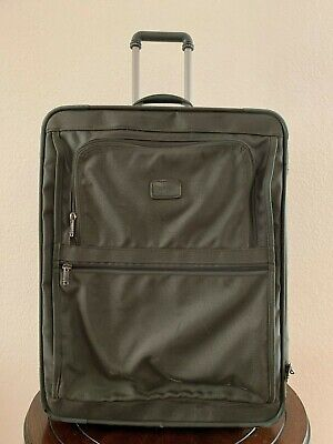 "VIntage TUMI 2244M3 24"" Ballistic Nylon Wheeled Green Luggage Garment Bag USA"