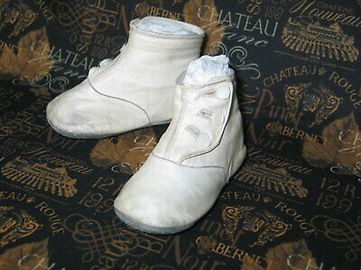 Darling Antique Vintage Baby  Doll Shoes-1900s Victorian Edwardian High Button